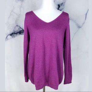 Eileen Fisher Womens Sweater M Purple Long Sleeve